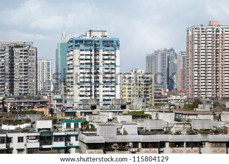Residential area of Guangzhou - stock photo