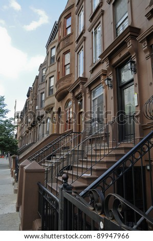 Residential Building, Harlem, Manhattan, New York, USA - stock photo