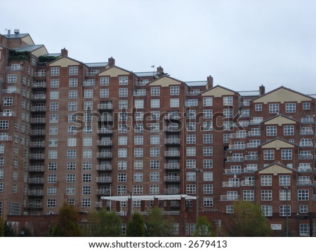Residential Building in Baltimore, Maryland - stock photo