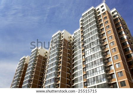 Residential buildings - stock photo