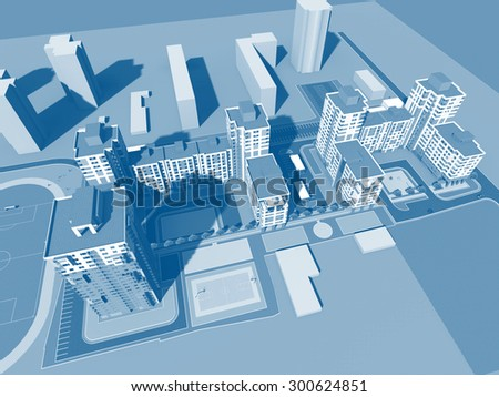Residential buildings. Architectural background