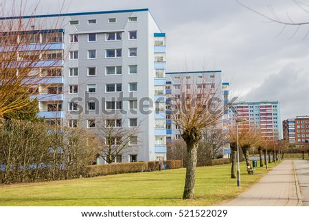 Residential buildings in the Sweden.