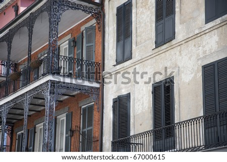 Residential district in New Orleans - stock photo