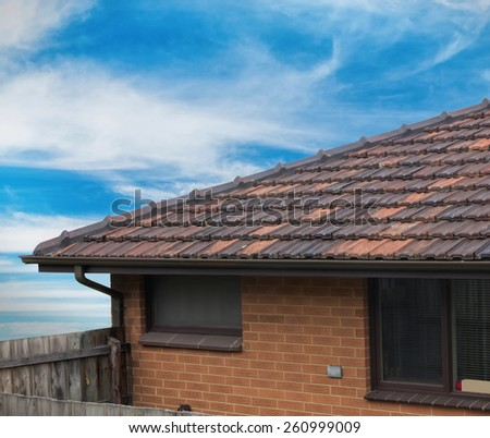 residential house closeup details - stock photo