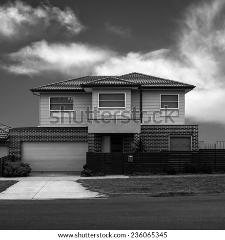 residential house closeup.toned picture - stock photo