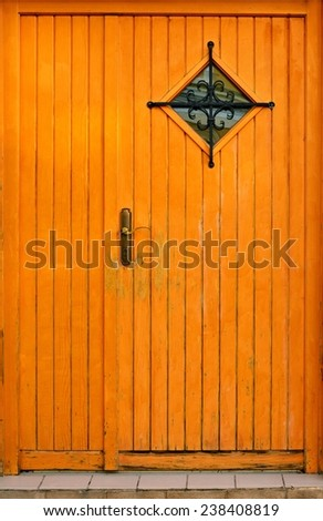 Residential house door / Wooden door  - stock photo