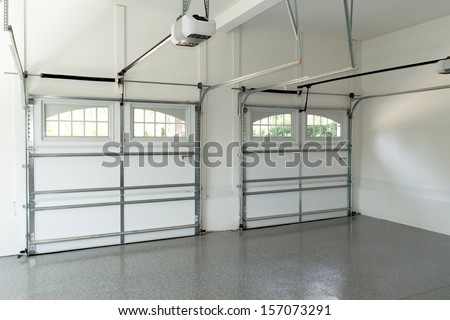 Residential house garage interior  - stock photo