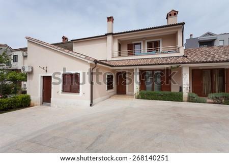 residential house in mediterranean  - stock photo
