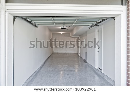 Residential house. Interior of the empty garage - stock photo