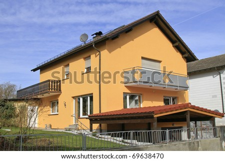 Residential house with balcony