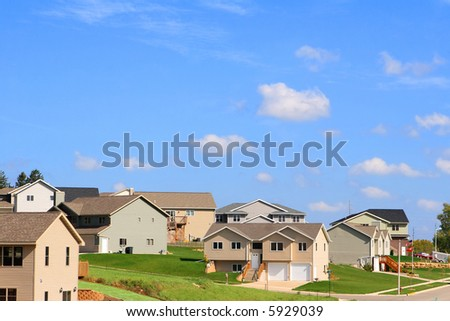 Residential Neighborhood - stock photo