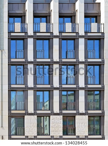 Residential new building facade. - stock photo