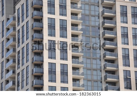 Residential units - stock photo