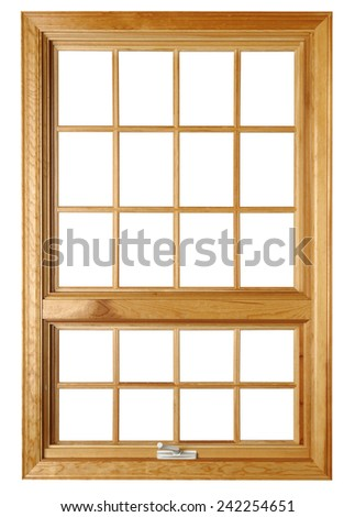 Residential window frame isolated - stock photo