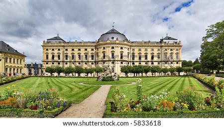Residenz palace in Wurzburg, Bavaria, Germany - stock photo