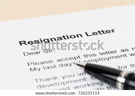 Resignation letter resign pen stock photo royalty free 726235114 resignation letter resign with pen altavistaventures Images