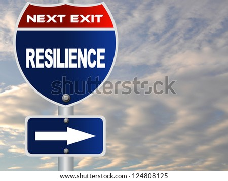 Resilience road sign - stock photo