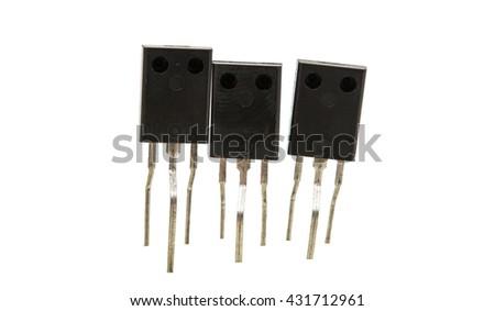 Resistors isolated on white background - stock photo