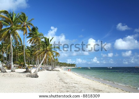 Resort beach, Punta Cana, Dominican Republic - stock photo