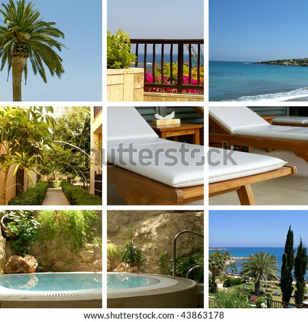 Resort collage made of Cyprus photos - stock photo