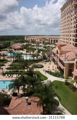 Resort hotel in Orlando, Florida, USA - stock photo