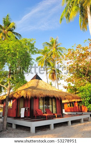resort in the Koh Mook island, Trang, South of Thailand - stock photo