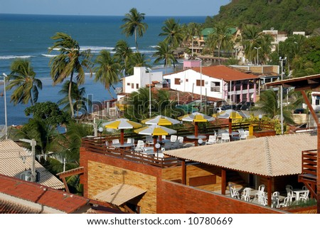 Resort properties and houses in Pipa, Brazil - stock photo