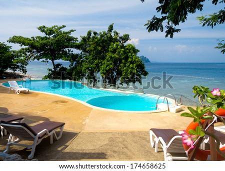 Resort Relaxation Beach Hotel  - stock photo