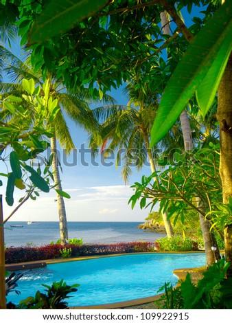 Resort Relaxation Holiday Lifestyle - stock photo