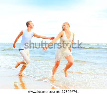 Resort Romance Couple  - stock photo