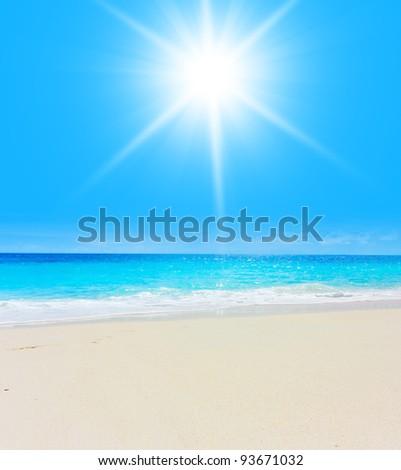 Resort Wallpaper Smooth Surf - stock photo