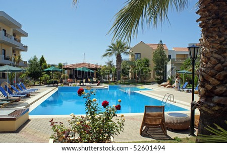Resort with a swimmingpool on the island of Crete