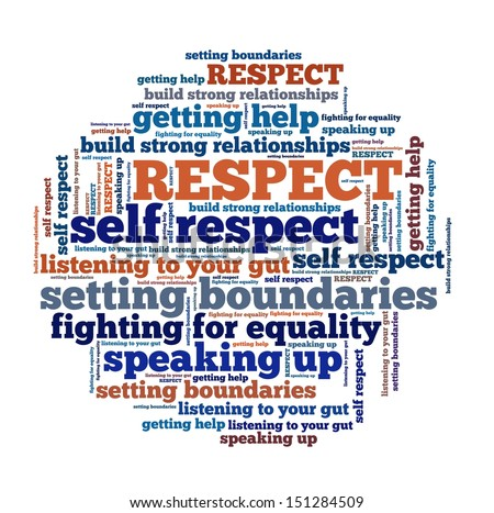 Respect Concept in word collage