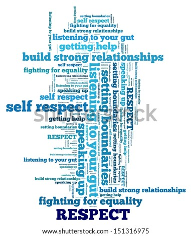 Respect Concept in word collage - stock photo