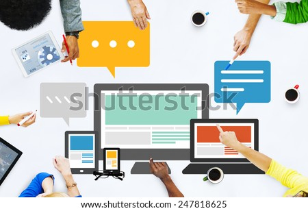 Responsive Design Internet Communication Technology Concept - stock photo