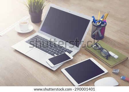 Responsive design mockup - stock photo