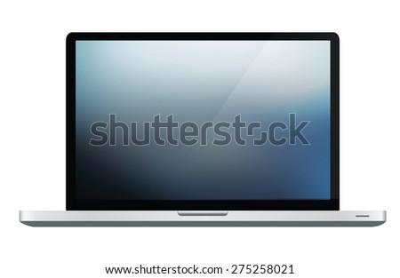 Responsive Laptop on white background - stock photo
