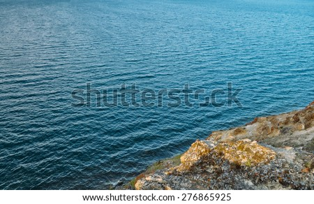 Rest on the shore of the purest lake in the world. lake Baikal - stock photo