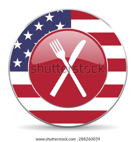 restaurant american icon original modern design for web and mobile app on white background