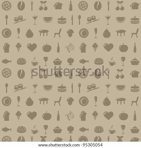 Restaurant Background - stock photo