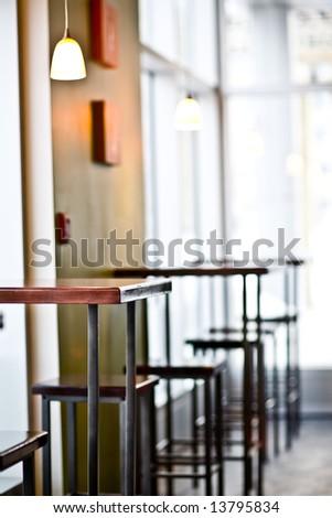 Restaurant Bar Table - stock photo