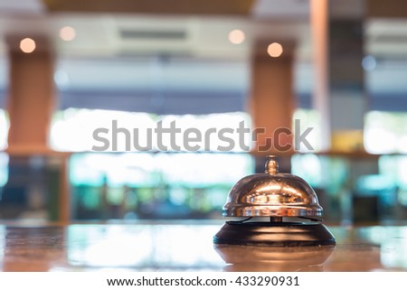 Restaurant bell vintage with bokeh - stock photo