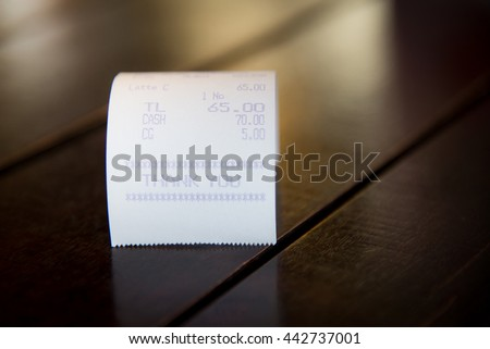 Restaurant bill - stock photo
