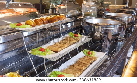 Restaurant buffet - stock photo