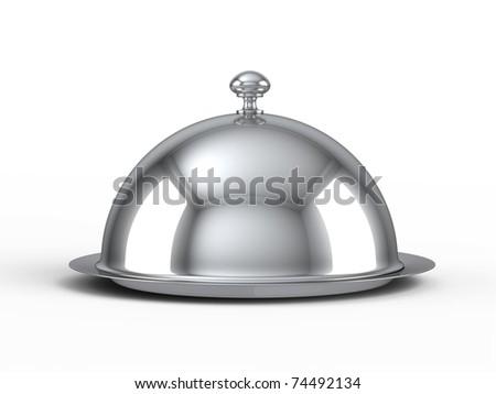 Restaurant cloche - stock photo