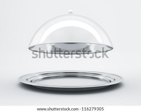 Restaurant cloche concept - stock photo