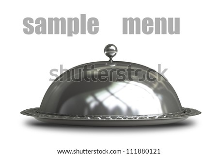 Restaurant cloche isolated on white background 3d render - stock photo