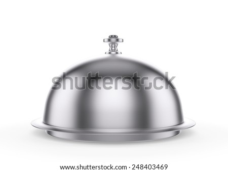 Restaurant cloche , isolated on white , 3d render - stock photo