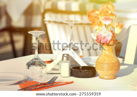 Restaurant concept - stock photo