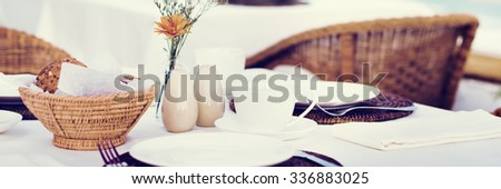 Restaurant Decoration Lunch Meal Formal Concept - stock photo